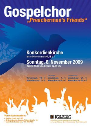 Flyer Jahreskonzert 2009