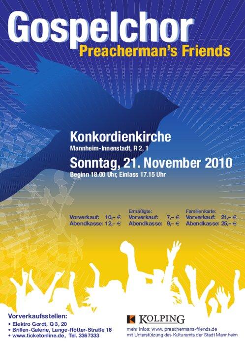 Flyer Jahreskonzert 2010