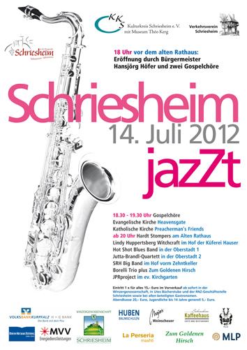 """Plakat """"Schriesheim jazZt 2012″ klein"""